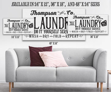 Personalized - Laundry and Co - Canvas