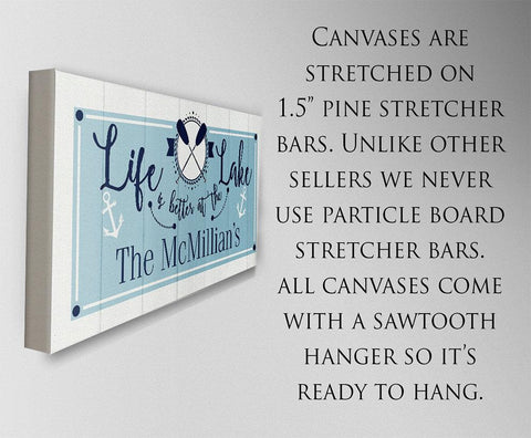 Personalized - Life is Better At The Lake - Canvas Lone Star Art