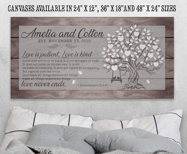 Personalized - Love Is Patient Tree - Canvas.