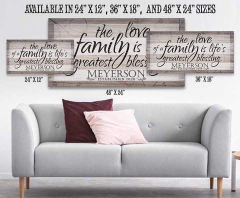 Image of Personalized - Love Of A Family - Canvas.