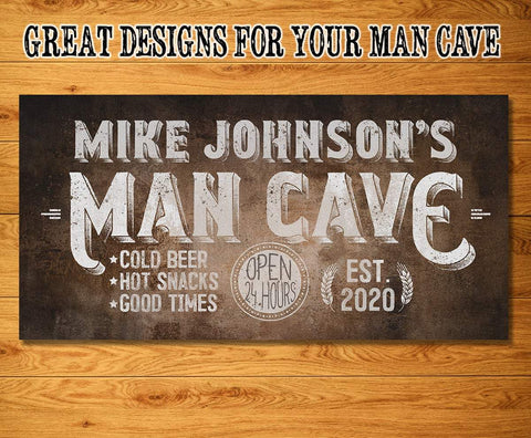 Image of Personalized - Man Cave - Canvas