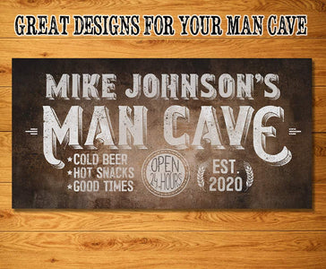 Personalized - Man Cave - Canvas