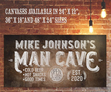 Personalized - Man Cave - Canvas.