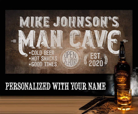 Image of Personalized - Man Cave - Canvas.