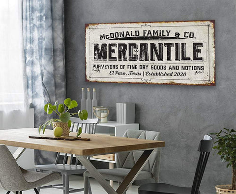 Image of Personalized - Mercantile - Canvas.