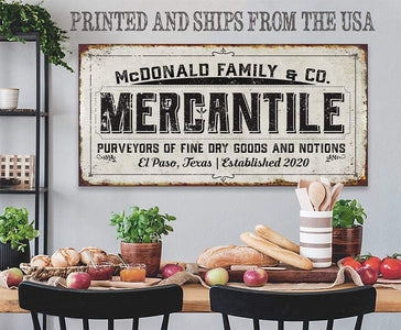 Personalized - Mercantile - Canvas.