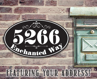 Personalized - Address Plaque - Oval - Metal Sign.