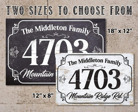 Personalized - Address Plaque - Rectangular - Metal Sign.
