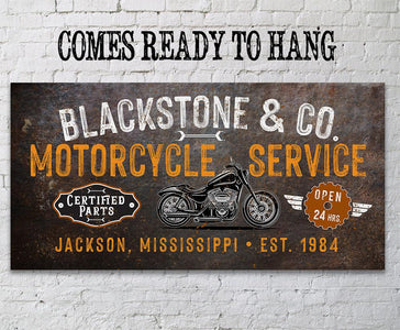 Personalized - Motorcycle Service - Canvas