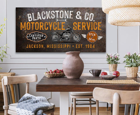 Image of Personalized - Motorcycle Service - Canvas