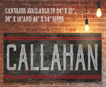 Personalized - Name Firefighter - Canvas.