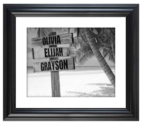 Personalized Names Sign Post Art - Beach.