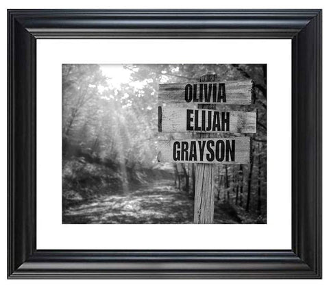 Personalized Names Sign Post Art - Country Road.