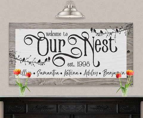 Image of Personalized - Our Nest - Canvas.