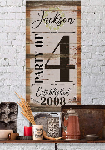 Image of Personalized - Party of 4 - Canvas
