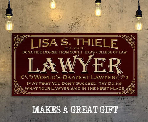 Image of Personalized - Professional Lawyer - Canvas.