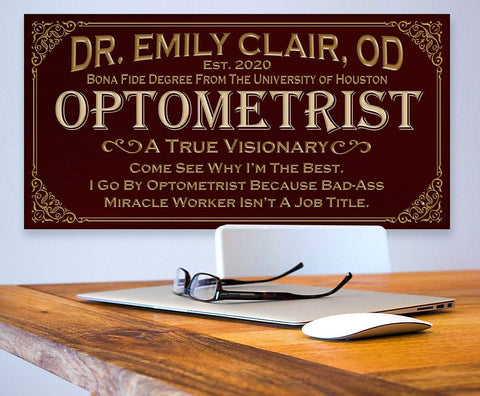Image of Personalized - Professional Optometrist - Canvas