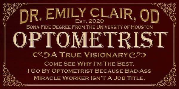 Personalized - Professional Optometrist - Canvas
