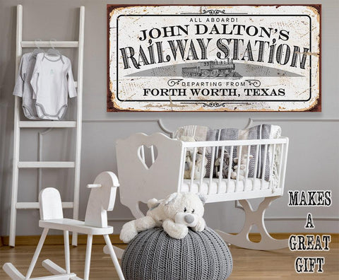 Image of Personalized - Railway Station - Canvas