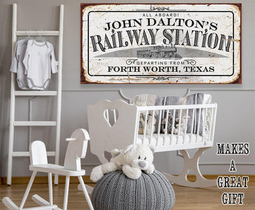 Personalized - Railway Station - Canvas