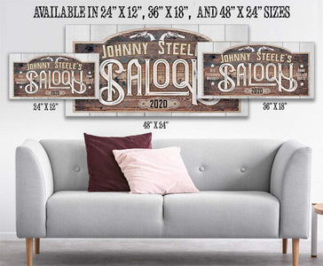 Personalized - Saloon - Canvas.