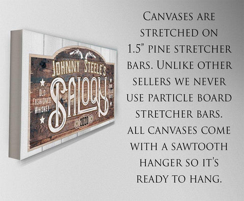 Image of Personalized - Saloon - Canvas.