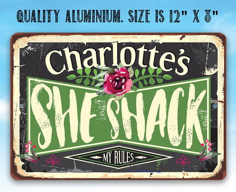 Personalized - She Shack - Metal Sign.
