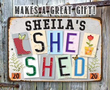 Personalized - She Shed - Est.2020 - Metal Sign.