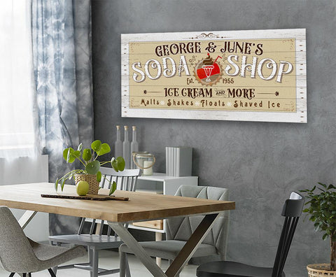 Image of Personalized - Soda Shop - Canvas.
