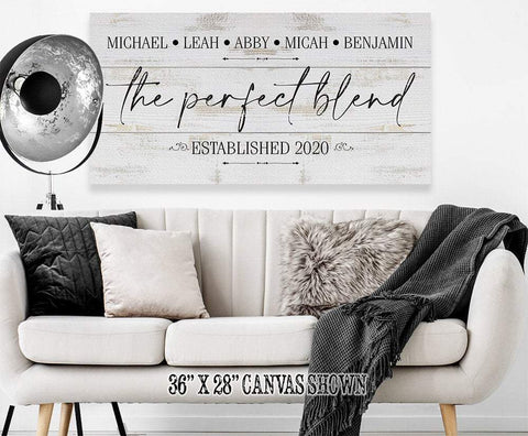 Image of Personalized - The Perfect Blend - Canvas.