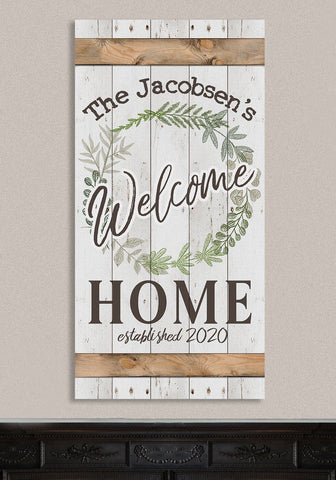 "Image of Personalized - Welcome - Canvas Lone Star Art 12"" x 24"""
