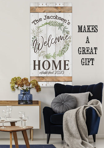 Image of Personalized - Welcome - Canvas Lone Star Art