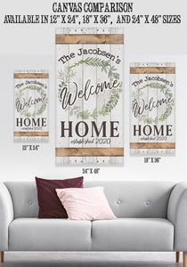 Personalized - Welcome - Canvas Lone Star Art