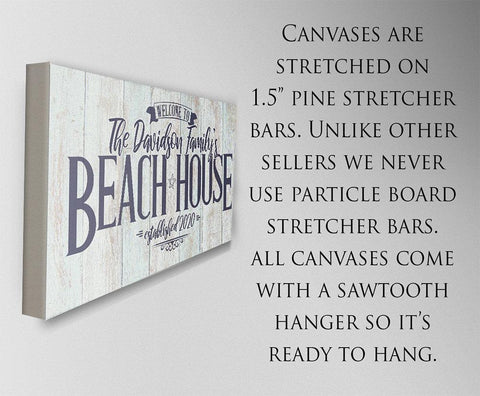 Personalized - Welcome to Our Beach House - Canvas.