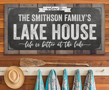 Personalized - Welcome To Our Lake House - Canvas.