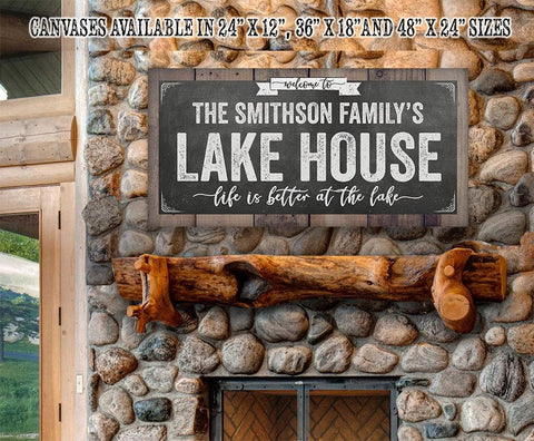 Image of Personalized - Welcome To Our Lake House - Canvas