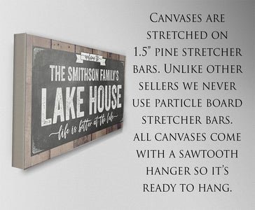 Personalized - Welcome To Our Lake House - Canvas