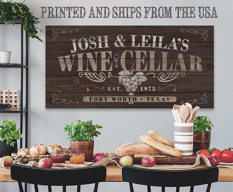 Image of Personalized - Wine Cellar - Canvas.