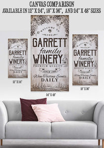 Personalized - Winery Family - Canvas.