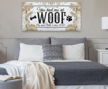 Personalized - You Had Me At Woof - Canvas.