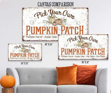 Pick Your Own Pumpkin - Canvas Lone Star Art