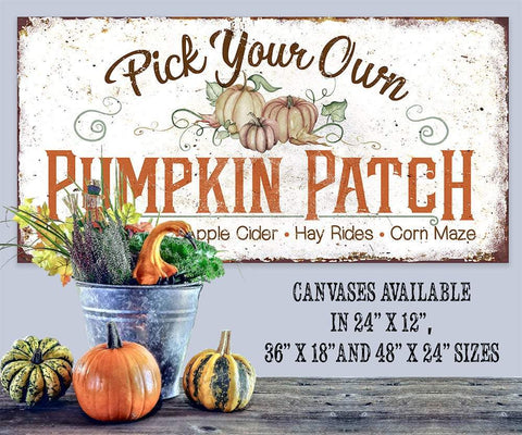Image of Pick Your Own Pumpkin - Canvas Lone Star Art
