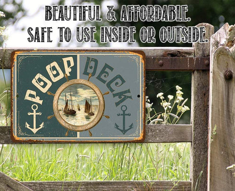 Poop Deck - Metal Sign.
