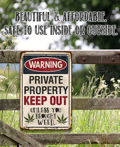 Private Property Keep Out - Metal Sign.