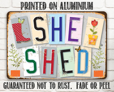 She Shed - Metal Sign Metal Sign Lone Star Art