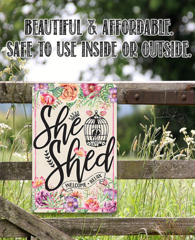 Image of She Shed - Pink - Metal Sign.