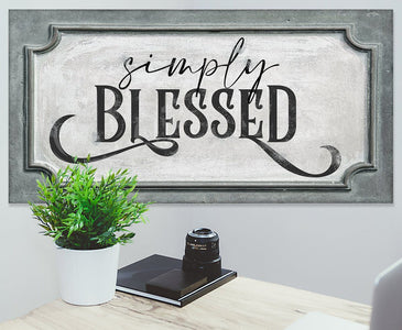 Simply Blessed - Canvas.
