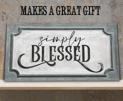 Image of Simply Blessed - Canvas.