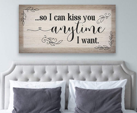 Image of So I Can Kiss You - Canvas.