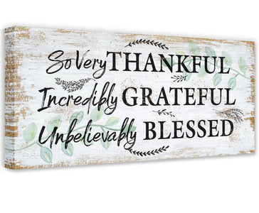 So Very Thankful - Canvas Wall Hangings Lone Star Art